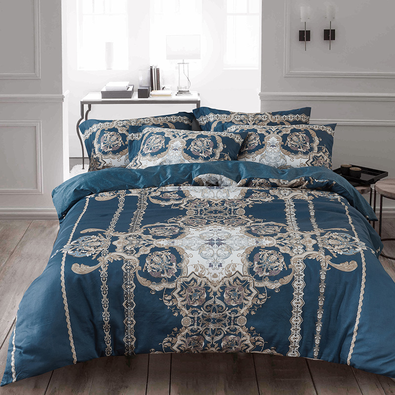 High-quality Egypt Cotton Classic Luxury Bedding Set Printed Duvet Cover bed Sheet pillowcases Queen King Size 4pcs bed linenHigh-quality Egypt Cotton Classic Luxury Bedding Set Printed Duvet Cover bed Sheet pillowcases Queen King Size 4pcs bed linen