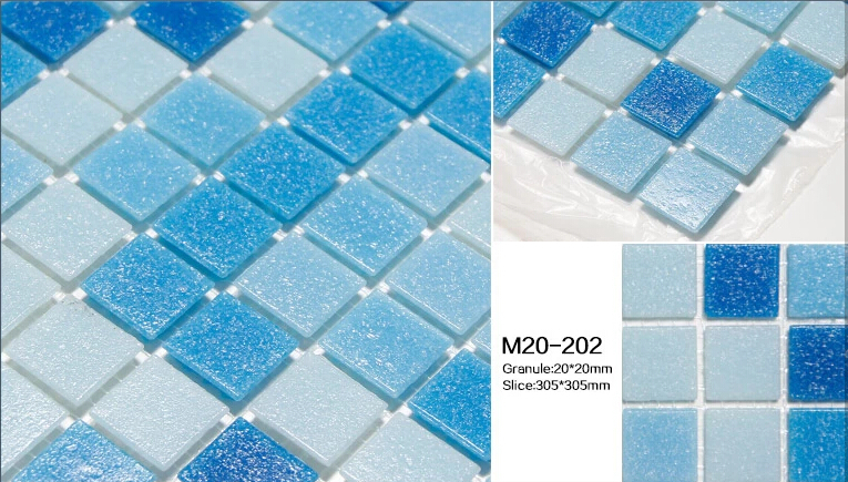 Glass Mosaic Tile Swimming Pool Mosaic Sky Blue Color