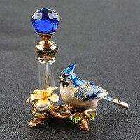 4ml Vintage Metal Bird Glass Empty Perfume Bottle Container Decor Ladies Gift