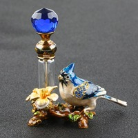 4ml Vintage Metal Bird Glass Empty Perfume Bottle Container Decor Ladies Gift