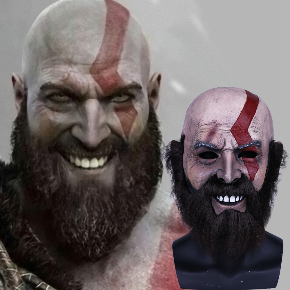 2018 Game God of War Kratos Leviathan Mask Cosplay Kratos Helmet Halloween Props