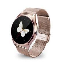 Tragbare Geräte Smart Uhr 9,8 MM dünne Smartwatch Pulsmesser Sync Anruf Push-nachricht für IOS Android
