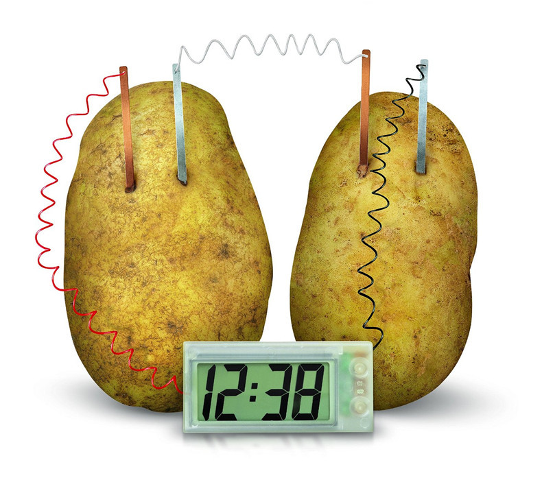 Potato Clock Novel Green Science Project Experiment Kit Lab Home School Toy funny educational DIY material for children kids wholesale physics science homemade magdeburg hemispheres diy material home school educational kit for kids students