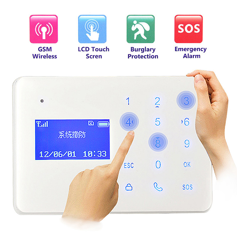 Home Security Protection Intercom Home Security Wireless GSM Alarm System Home Security Alarm System