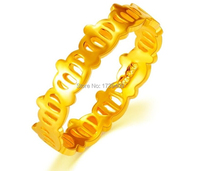Аутентичные 999 Твердые 24 K кольцо из желтого золота/элегантные девушки корона кольцо Us Размер 6