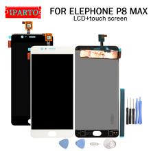 5 5 cal ELEPHONE P8 MAX wyświetlacz LCD + ekran dotykowy Digitizer zgromadzenie 100 oryginalny nowy wyświetlacz LCD + ekran dotykowy Digitizer dla p8 MAX + narzędzia tanie tanio iParto for ELEPHONE P8 MAX 5 5 inch Pojemnościowy ekran ELEPHONE P8 MAX 1920x1080 HD 5 5 inch Original for ELEPHONE P8 MAX Dispaly Touch Screen