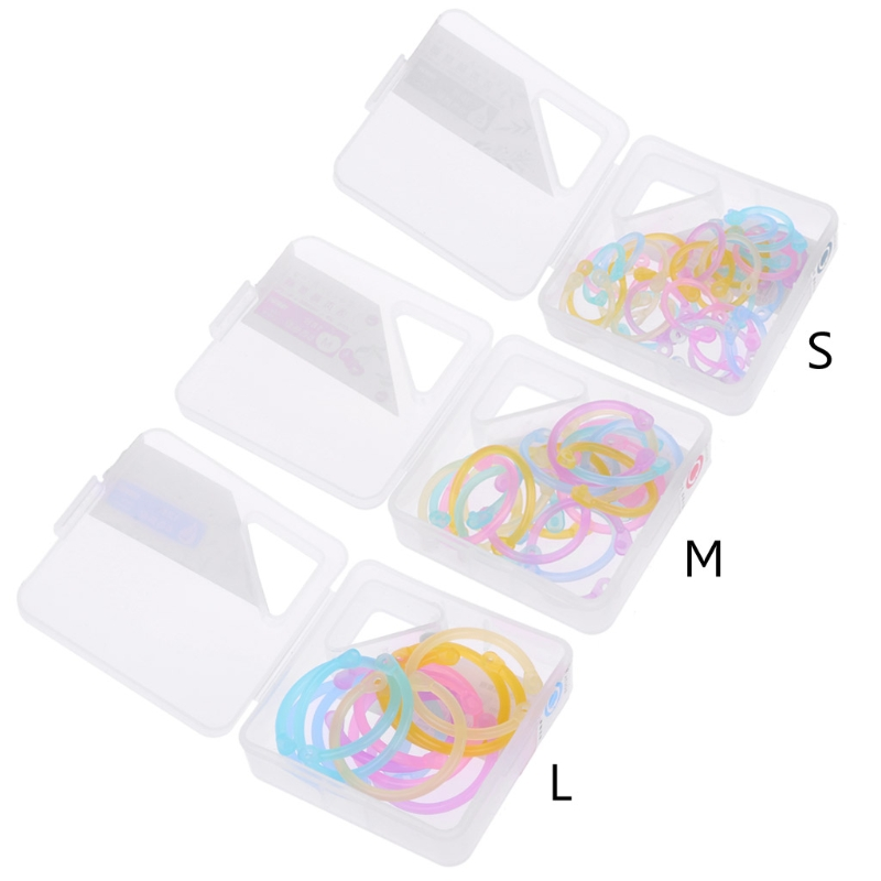 Creative Binder Ring Plastic Book Ring Multifunction Circle Album Loose Leaf Book Binder Hoop Office Binding Supply