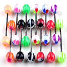 10 X/lot premium Tongue Tounge Nipple Ear Ring bars BARBELL BODY PIERCING JEWELRY