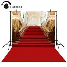 Allenjoy fotografia ślubna w tle klasyczny pałac czerwony dywan vintage schody profesjonalne tła photobooth photo studio