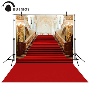 Image 1 - Allenjoy wedding background photography classic palace red carpet vintage stair professional backdrops photobooth photo studio
