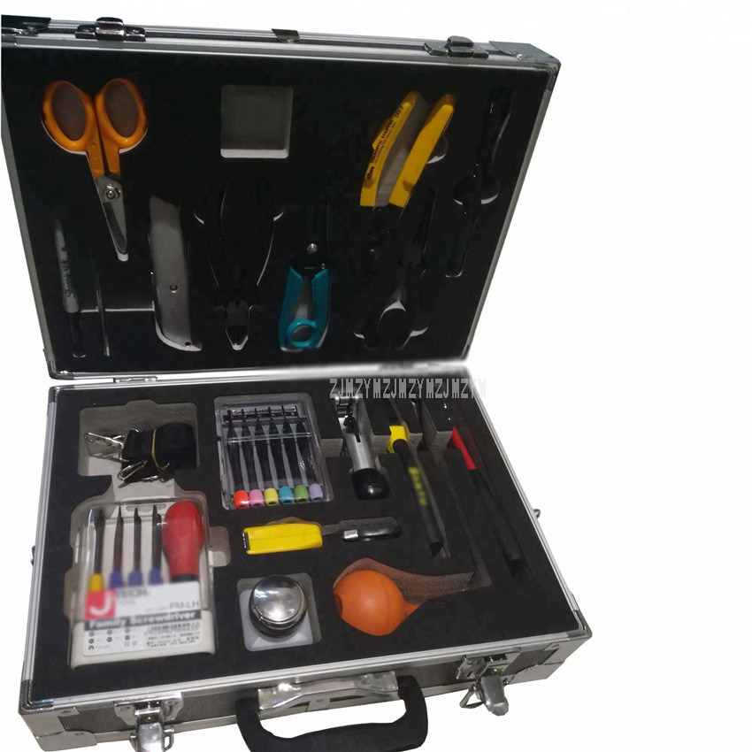 1 Set 19 pièces Fiber optique câble Construction boîte à outils FTTH épissure outil Kit Cutter marqueur fil dénudeur tournevis clé BD-100B