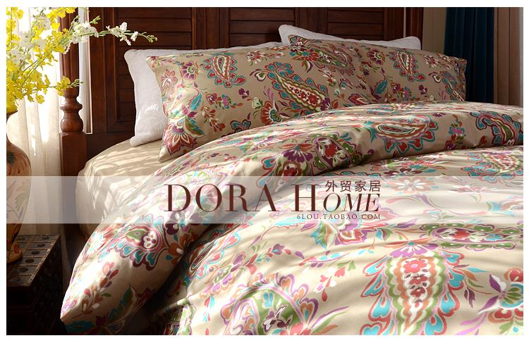 Home textile,luxury Retro Paisley bedding sets Queen / King Size