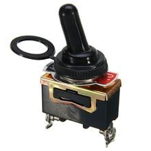 цена на 5 Pcs Metal 2 Pin Heavy Duty SPST Rocker Switch Car Boat 15A 250V ON-OFF Rocker Toggle Switch + Waterproof Boot High Quality