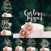 Decoración de Pastel de boda, Señor y Señora personalizada de guirnalda, decoración de tartas de boda, decoración de tartas de madera, decoración rústica para Tartas, apellido a