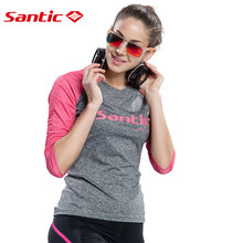 2018 New Santic Women Cycling Jerseys Spring&Autumn Outdoor SportsT-shirt Breathable Bike Bicycle Jersey Clothes Ropa Ciclismo