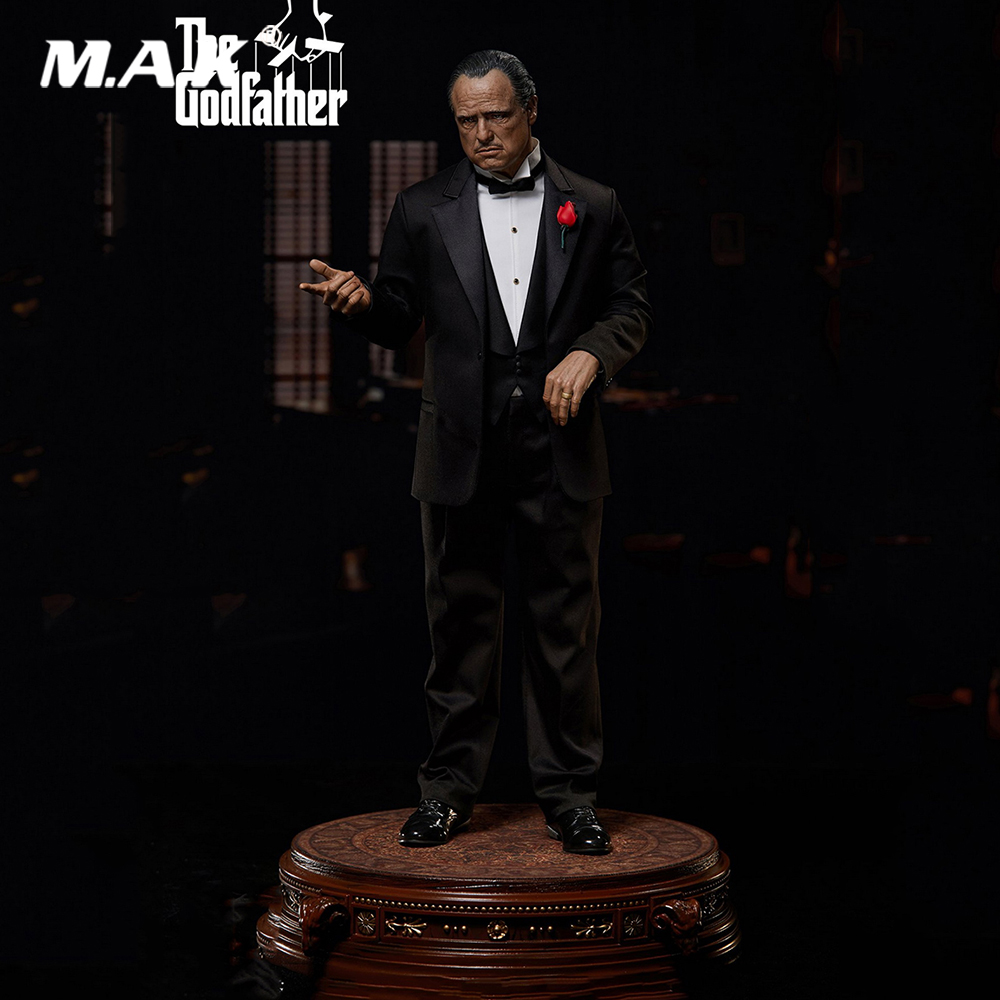 For Collection In Stock 1/4 BW-SS-20301 Collectible The Godfather 1972–Vito Corleone Full Set Action Figure Model For Fans Gifts