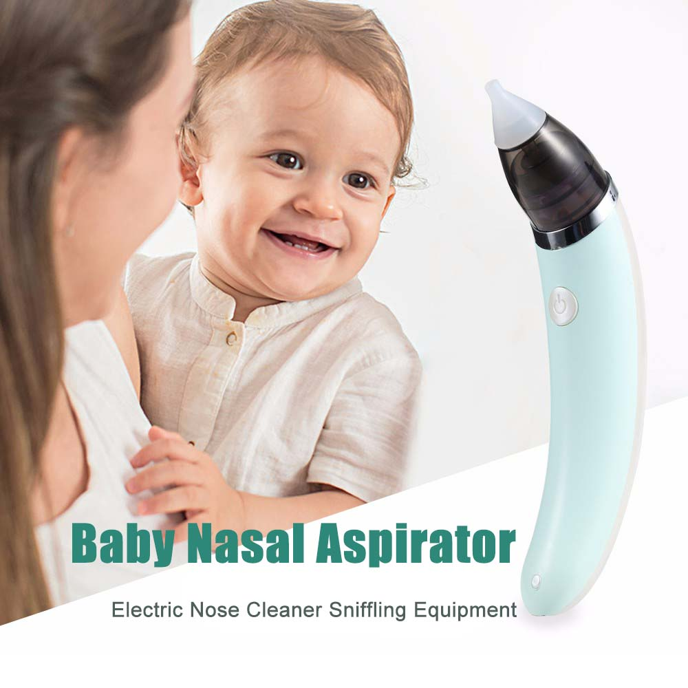 Infant Baby Nasal Aspirator Electric Nose Cleaner Sniffling Equipment 5 level Nose Tips Oral Sucker Nozzle For Children Newborn