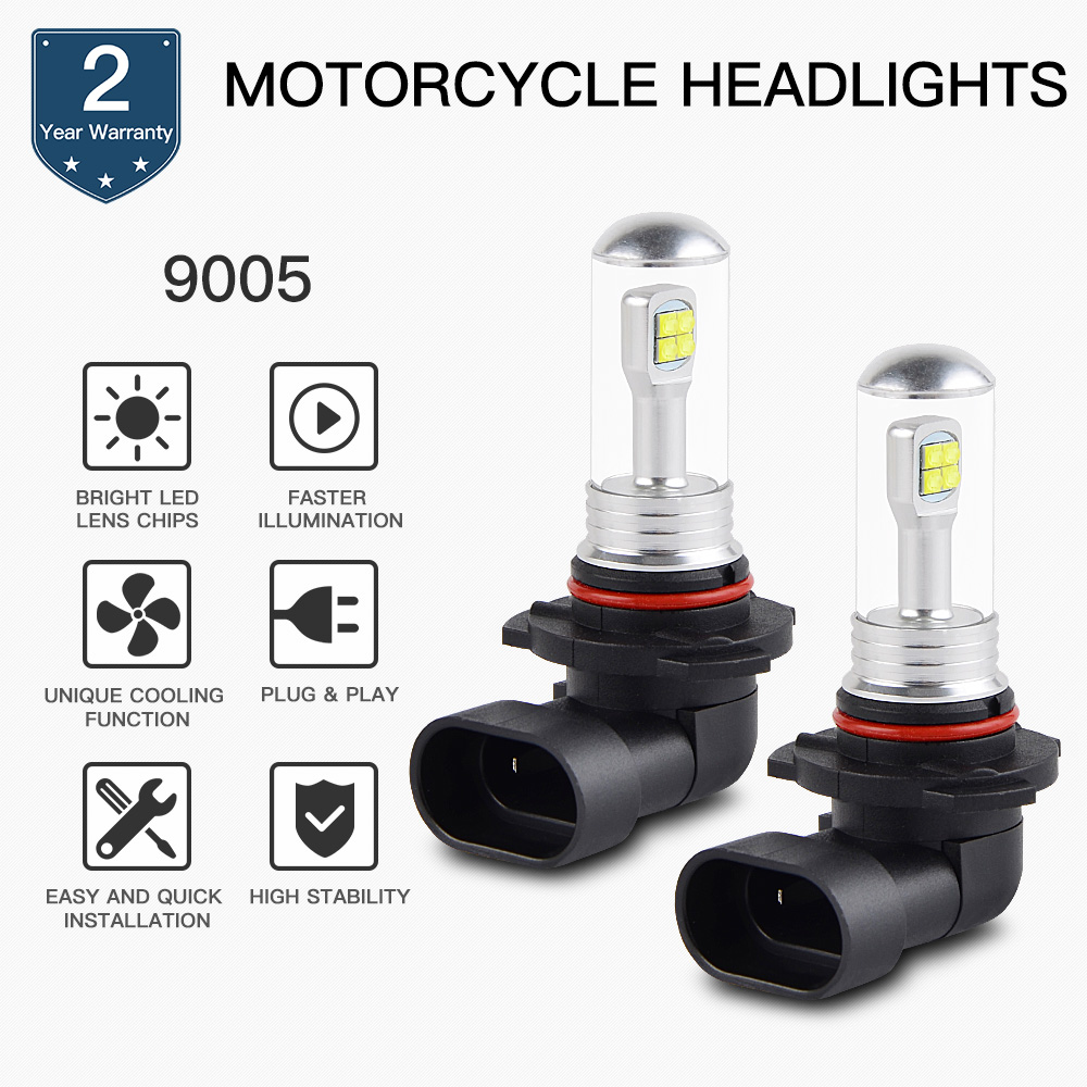 NICECNC 80W LED Headlight Bulbs For Can-Am Commander 800 1000 Outlander Max 500 650 1000 Renegade 800R Maverick Max 1000R