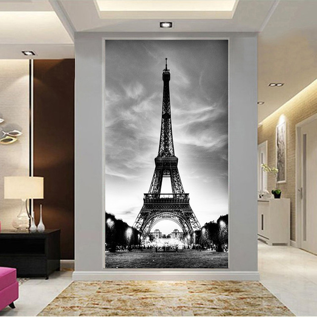 Custom Home Decor 3d Vliestapete Eiffelturm Wohnzimmer Flur Tapete Collage Wanddekorationen