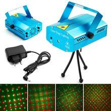 Mini led projetor laser decorações de natal laser luz de discoteca luz laser dj voz-ativado dj discoteca festa de natal clube luz
