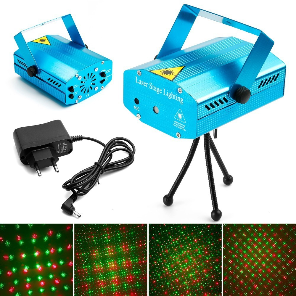Mini LED Laser Projector Christmas Decorations Laser Disco Light Laser Light Dj Voice-activated DJ Disco Xmas Party Club Light