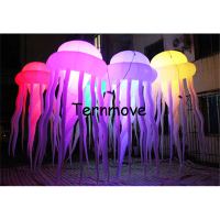 inflatable jellyfish medusa acaleph seajelly for advertising hanging decorative lighted Jellyfish for inflatable toys