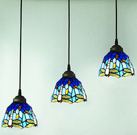 100 High Quality Fashion Europe Tiffany Dia 16cm Led E27 3 Heads Hand Made Pendant Light