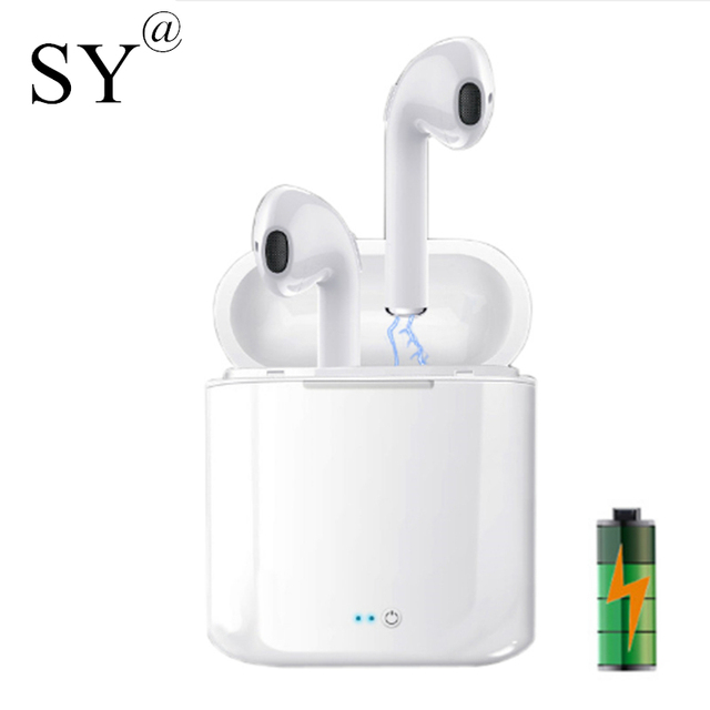 Mini Bluetooth Earphone Headphones with Microphone Gambol Headset Wireless Earbuds Earpiece with Charger for ipod iPhone 7 8 X.