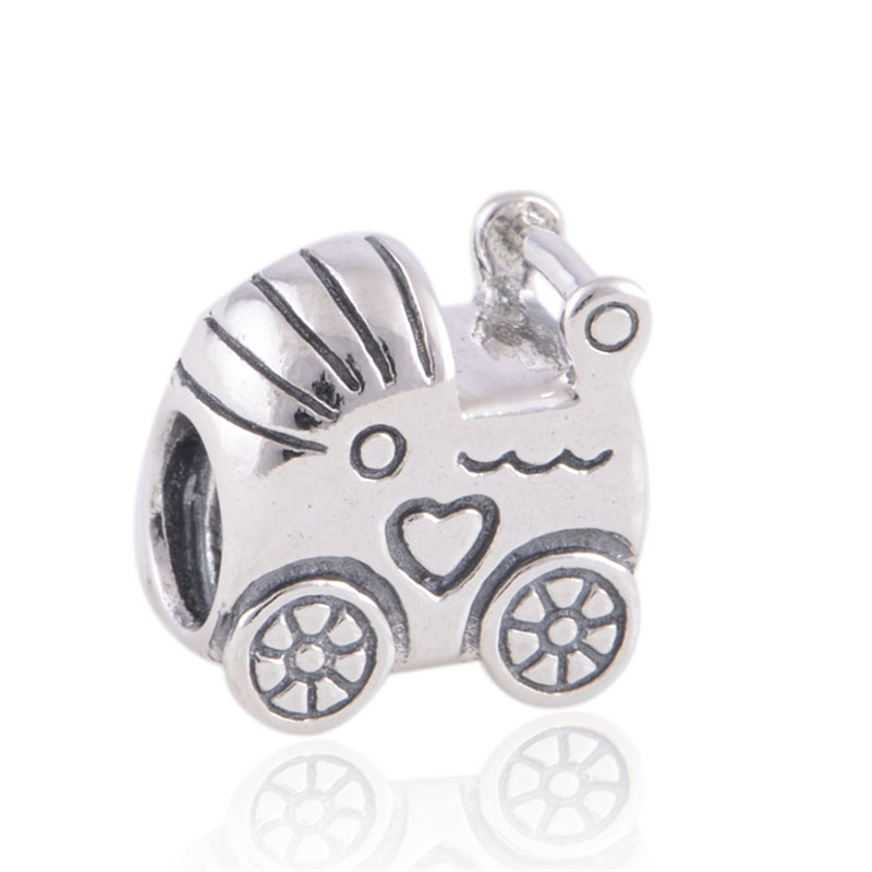 Fits Pandora Charms Bracelet Authentic 925 Sterling Silver Beads Baby Car European Charm Women DIY Making