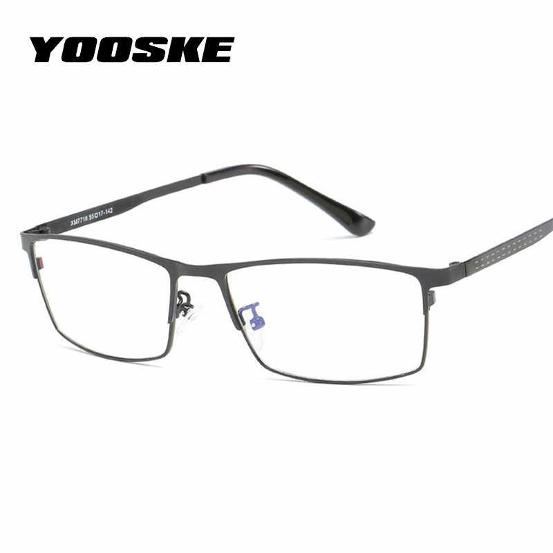 YOOSKE Blue Light Filter Glasses Frame Men Computer Gaming Goggles Eyeglasses Business Men Essential Full-frame Glasses