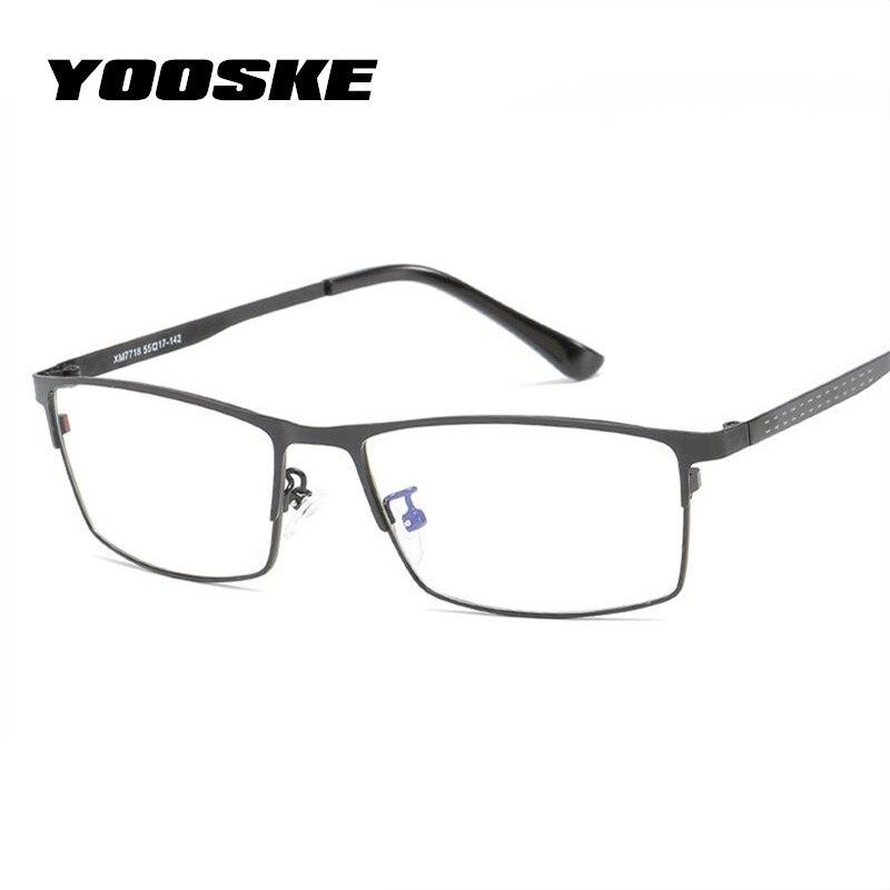 YOOSKE Blue Light Filter Glasses Frame Men Computer Gaming Goggles Eyeglasses Business Men Essential Full-frame Glasses