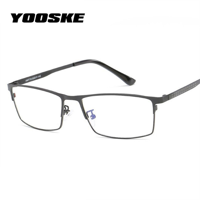 338f9812ba YOOSKE Blue Light Filter Glasses Frame Men Computer Gaming Goggles Eyeglasses  Business Men Essential Full-