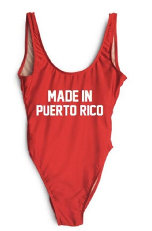 MADE IN PUERTO RICO One Piece Swimsuit Women Bathing Suits Push Up Swimwear Bodysuit Cut Summer Beach Bathing Suit Swim Monokini