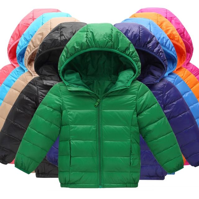 395044eaba54 Children s Jackets Coat Boys   Girls Autumn Warm Down Jackets Hooded ...