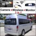 Camera + Wireless + Mirror Monitor For TOYOTA Hiace H200 Commuter RegiusAce Ses'fikile Quantum Ventury Majesty Grandia MK5