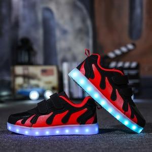 Image 5 - Tênis infantis, tênis infantis, brilhantes, com sapatos iluminados, tênis luminosos para meninos, meninas, krasovki, com luz de fundo, Size25 38