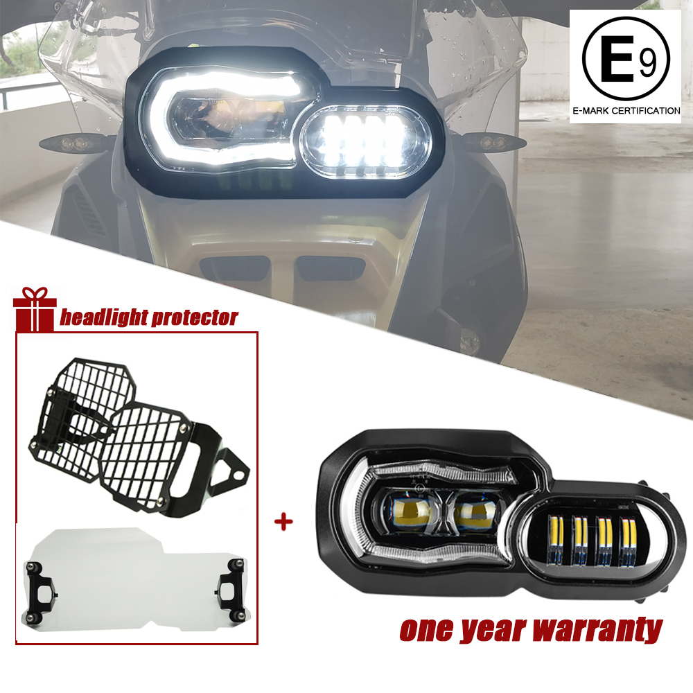 Phare de moto pour BMW F800GS F800R F700GS F650GS aventure motos complet projecteur LED phare