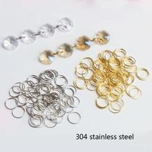 100x12 мм хромовое Золотое кольцо из нержавеющей стали 304, хрустальное кольцо для люстры, шаровые детали, светильник из бисера, аксессуары для занавесок