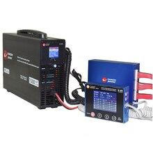 2 s 24 sリチウムリポLifepo4 lto bmsスマートバランサディスプレイ + 1500 ワット充電器リチウムイオン電池ソリューションchargery BMS24T C10325 300A