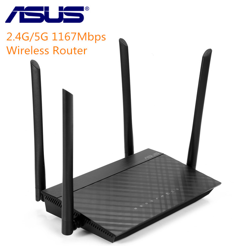ASUS RT-AC1200 Wireless Router 2.4G 5G 1167Mbps Network WiFi Repeater Dual-Band Router With Four 5dBi Antennas Parental Controls цена и фото