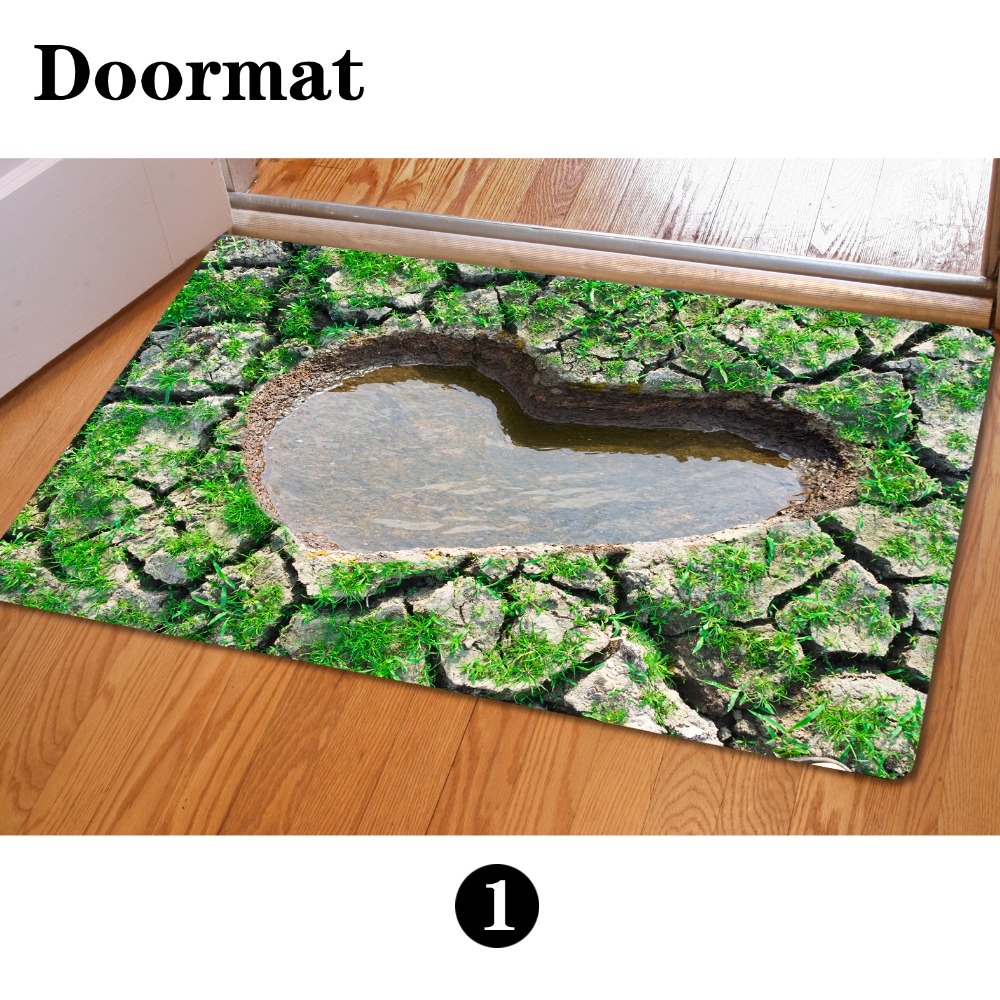 4060cm entrance doormats funny rubber door mat fashion 3d trap printed carpet for living - Rubber Door Mat