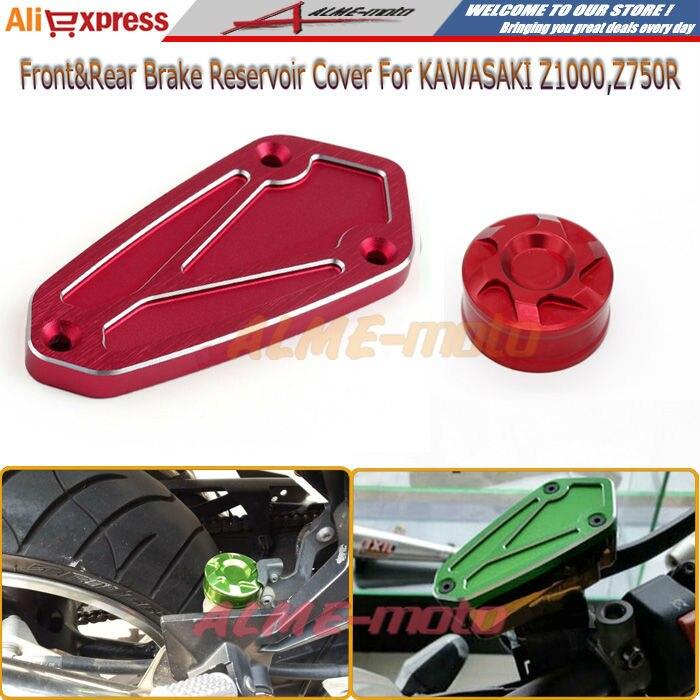 Aliexpress.com Acheter Accessoires de moto avant et arrière frein  réservoir bouchon pour KAWASAKI Z1000 2010 2015, Z750r 2011 2012 rouge de  brake reservoir