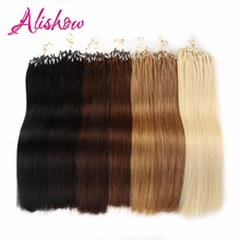 Remy micro loop hair extensions reviews online shopping remy alishow hair 100gpack 16 24 remy loop micro ring hair silky pmusecretfo Images