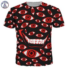 2017 Mr.1991INC New Fashion Men/Women 3d T-shirt Print Cartoon Eyes Quick Dry Hip Hop Tshirts Summer Tops Tees