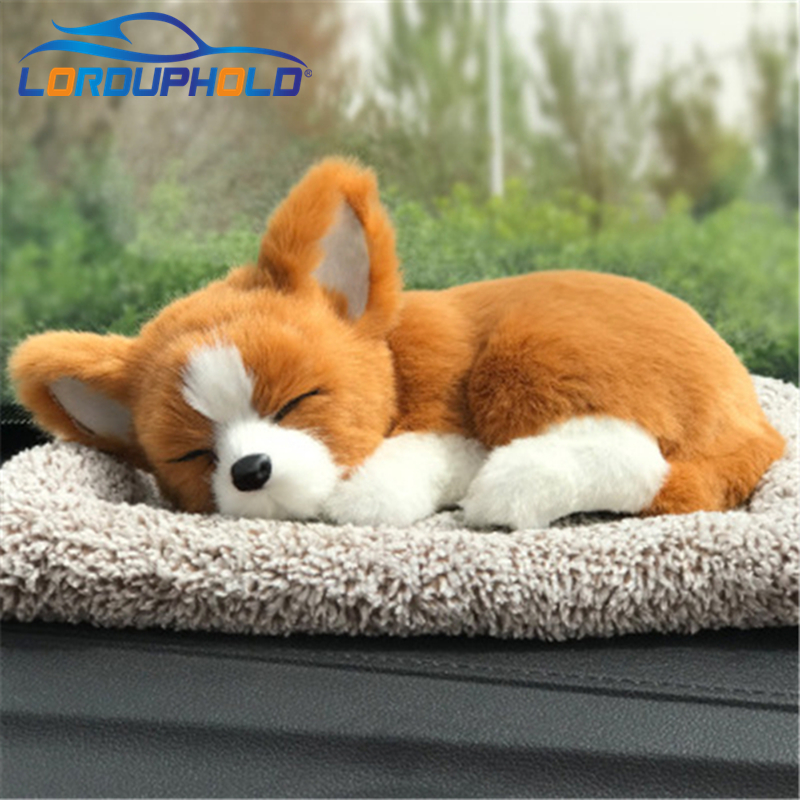 New Cool font b Car b font Dashboard Ornament Silulation Sleeping Dog ABS Plush Shake Head