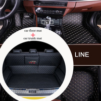 Tailor made leather car floor mat trunk mat combine for LEXUS Series CT ES IS GS GX LS LX NX RX RC LC SC HS All Models car mats