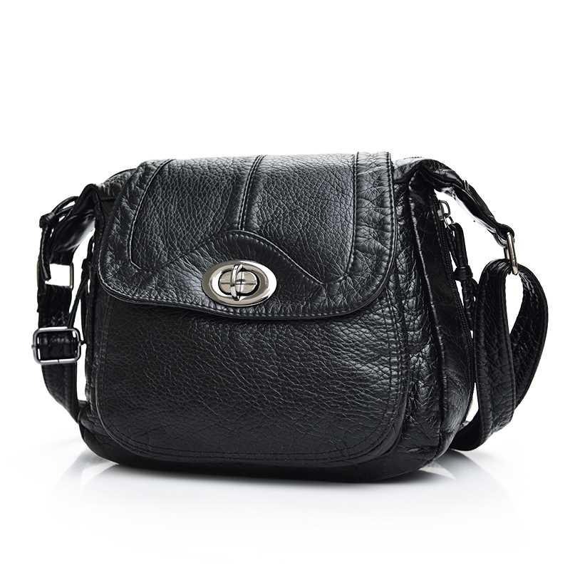 New Designer Lock Black Shoulder Bag Soft Leather Handbag Women Messenger Bags Crossbody Fashion Women Bag Female Flap Bolsa