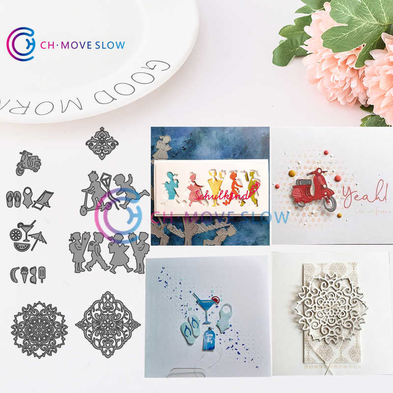 2019 New Arrival CH Summer Seaside Metal Cutting Dies 3D DIY Scrapbooking Carbon Sharp Craft Die Photo Invitation Cards Decor