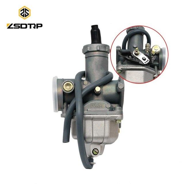 ZSDTRP 27mm Carburetor Carb Motorcycle PZ27 ATV Dirt Bike Pit Quad for Honda CG150 XL150 XF150 TRX Hand Choke