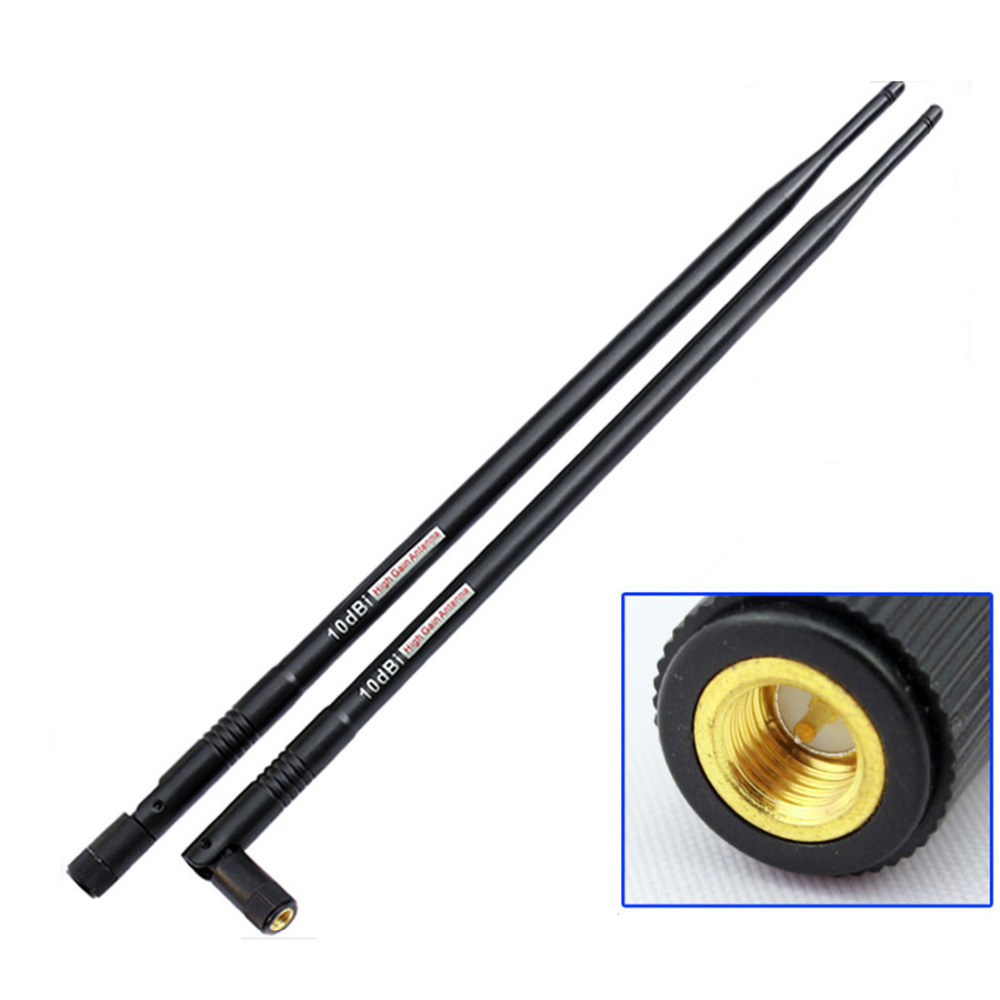 2.4G 10DBi SMA Male Antenna Wireless WIFI Antenna Booster Wifi Antennas Amplifier WLAN Router 10DBi High Gain 2.4G Antenna